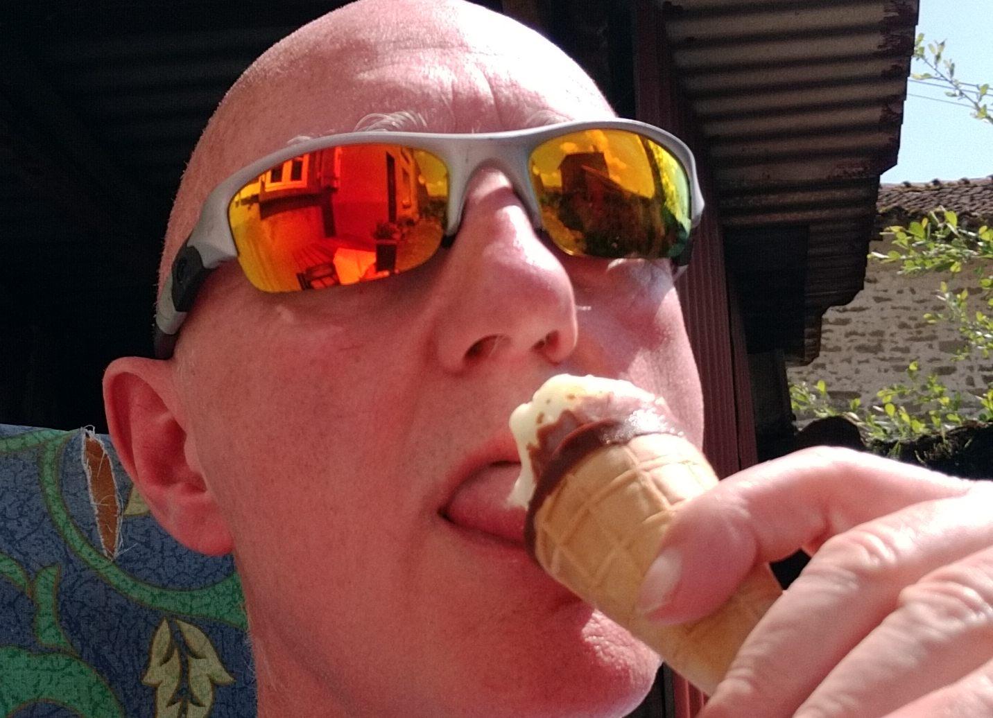 Tim with ice-cream