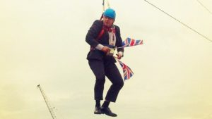Boris on zip wire