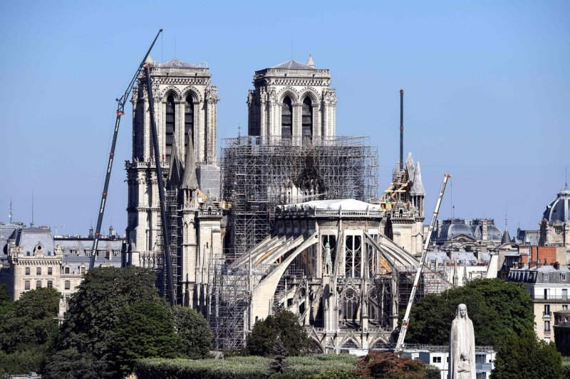 Notre Dame the start of the restoration