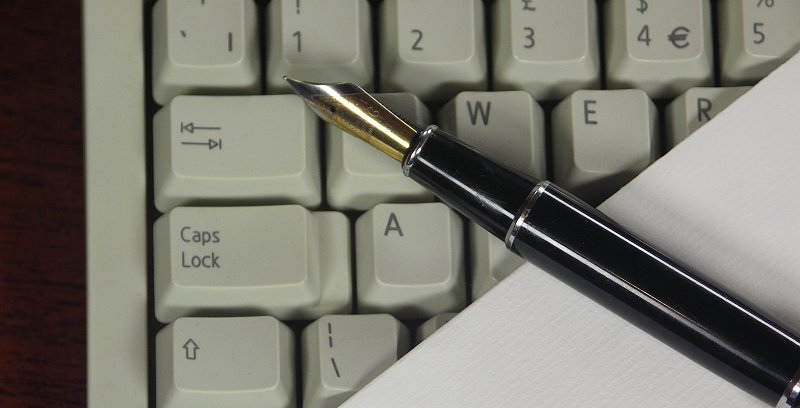 pen and keyboard