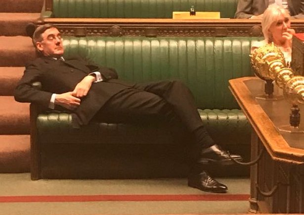 lazy Jacob Rees-Mogg