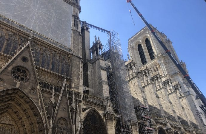 Notre Dame outside