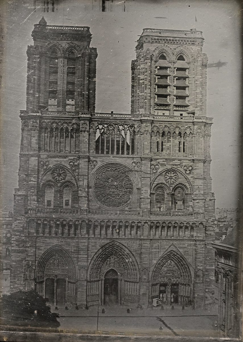 1840 photo of Notre Dame