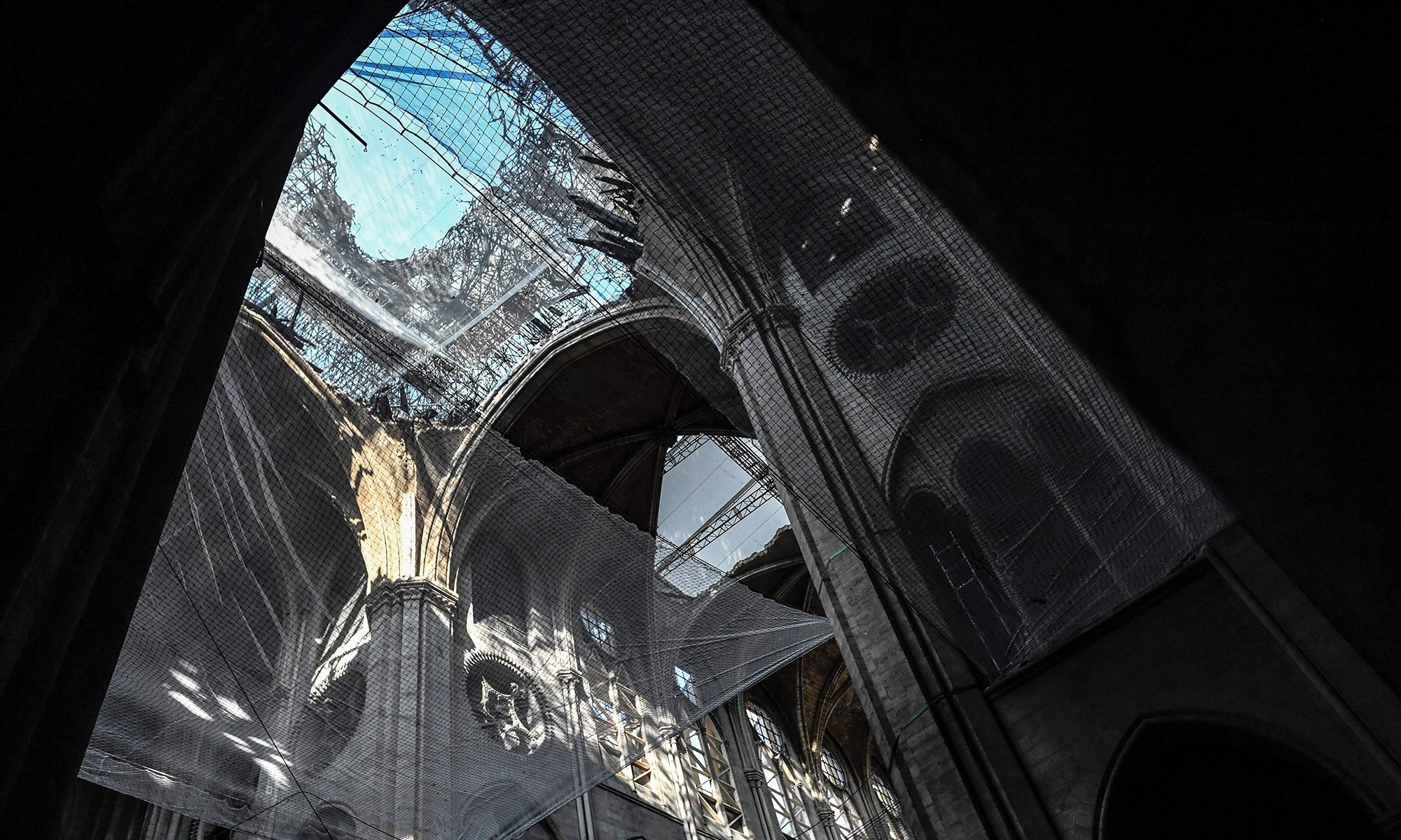 Notre Dame fused scaffold