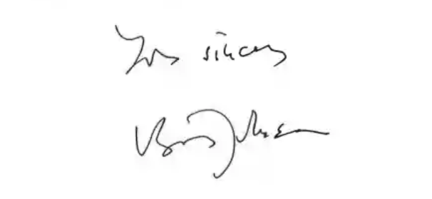 Boris Johnson signature