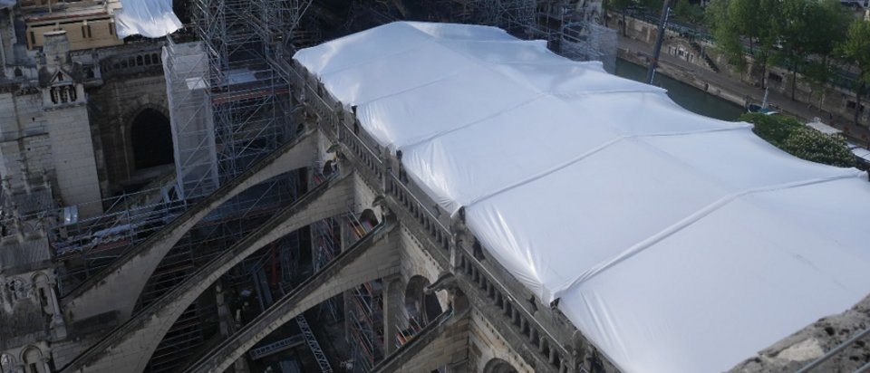 Temporary roof cover