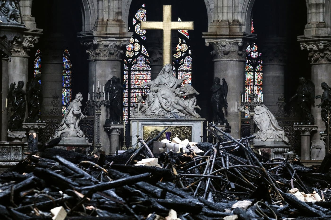 altar after the fire