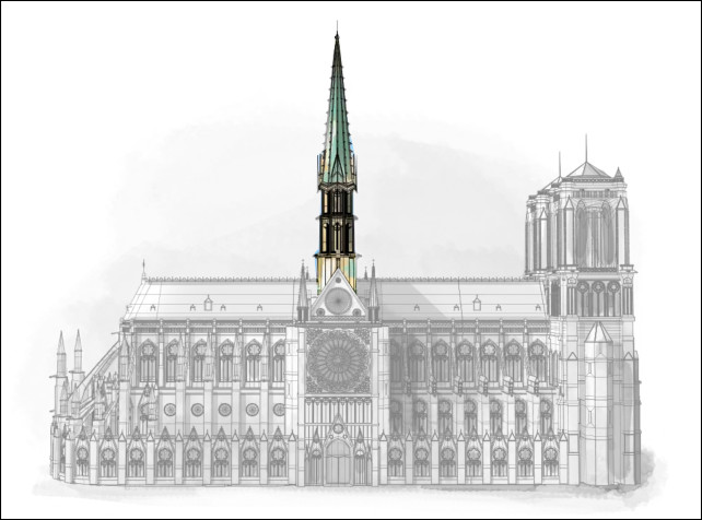 graphic of spire