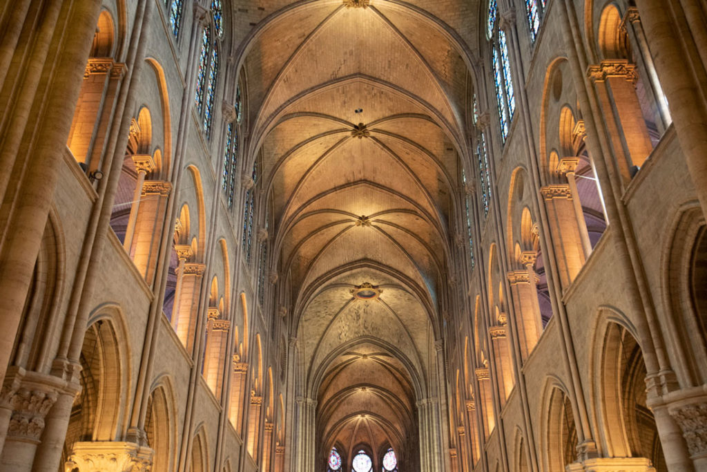 Vaulted ceiling of Notre Dame