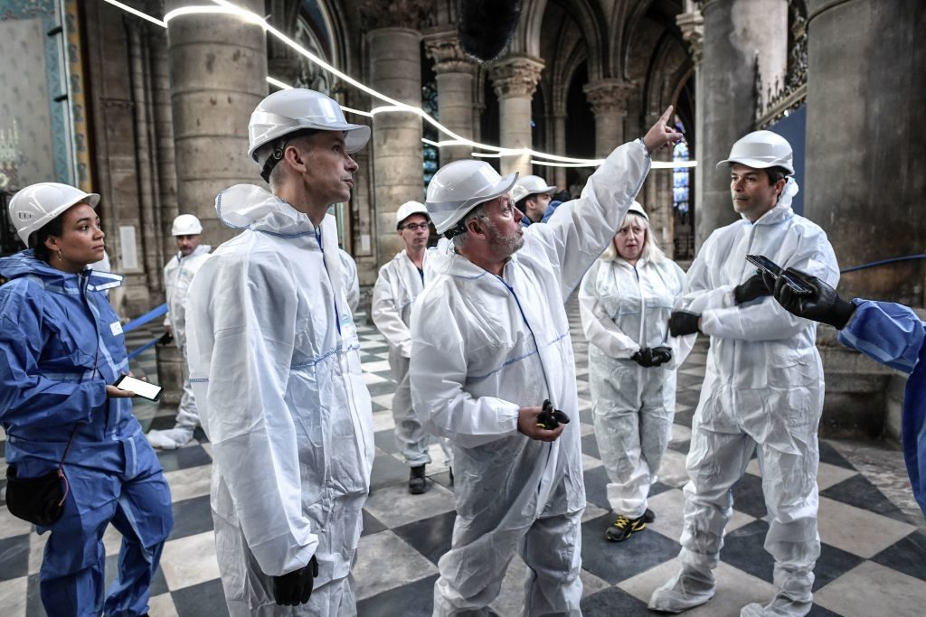 workers in Notre Dame