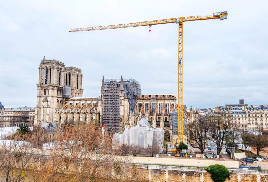 Crane at Notre Dame