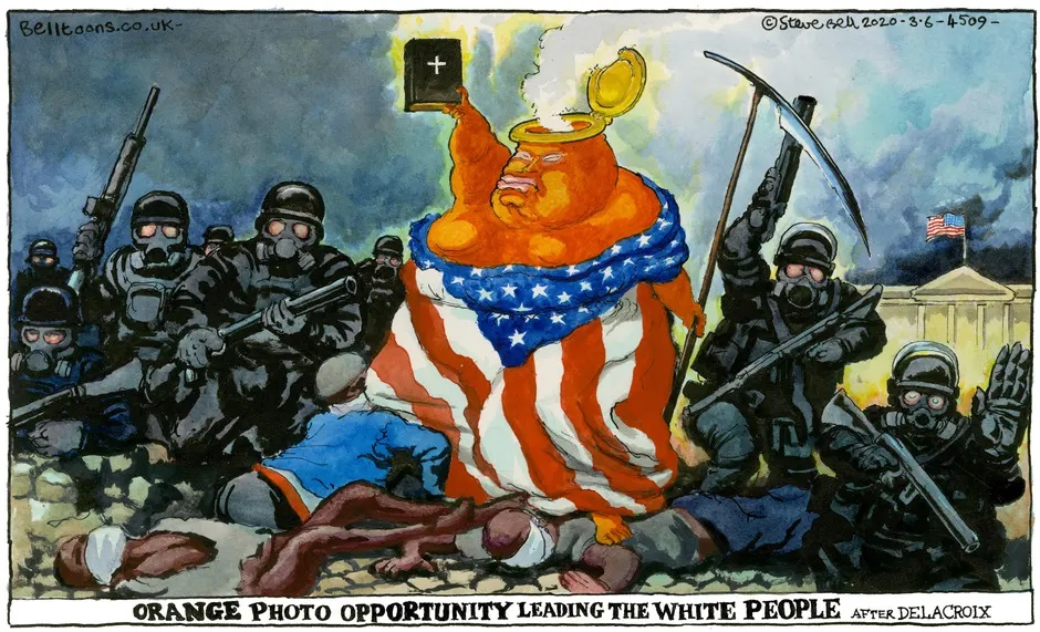 Steve Bell cartoon on Trump