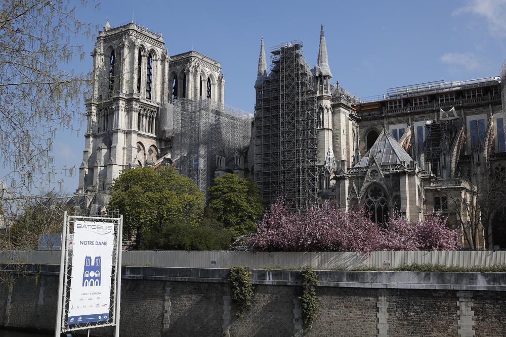 Notre Dame exterior 2021 April